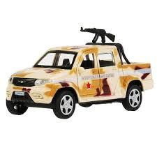 """<b>Технопарк Машина металлическая</b> """"UAZ Pickup военный с ..."""