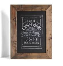 NEW <b>Vintage Style</b> Chalkboard with Rustic Frame from <b>Recycled</b> ...