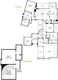 Spanish House Plans Capture the Essence of the MediterraneanA landscaped courtyard entry leads to the arched doorway of this attractive two story Spanish style house  The main level floor plan illustrates all the