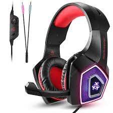 3.5mm Gaming Headphones Mic LED Surround Stereo Headset for ...