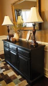 how to decorate a dining room buffet