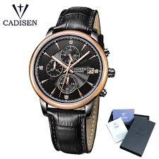 <b>CADISEN</b> Top <b>Men</b> Watches Luxury Brand <b>Men's Quartz</b> Hour ...