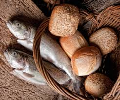Image result for picture of  fish and bread