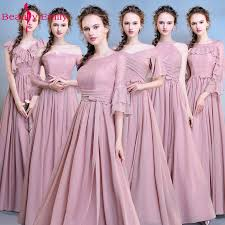 <b>Beauty Emily Long</b> Pink Bridesmaid Dresses 2018 A Line ...