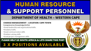 human resource and support personnel 3 posts core title human resource and support personnel