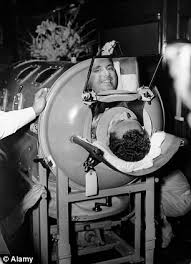 「polio was associated with the iron lung,」の画像検索結果