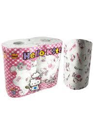 <b>Полотенца кухонные</b> Hello Kitty 3-х слойные с рисунком, 2 ...
