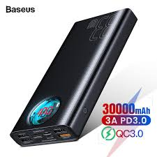 <b>Baseus 30000mAh Power</b> Bank USB C PD Quick Charge 3.0 30000 ...