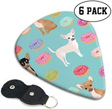 Chihuahua Donuts Sweet Dog Guitar Picks With Key ... - Amazon.com