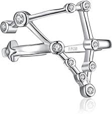 <b>JewelryPalace</b> Constellation <b>Zodiac</b> Sign Adjustable Bubble Open ...