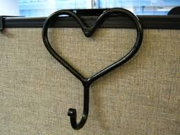 cubicle metal heart coat hook for 2 2 12 and 3 office divider partition hand forged black red black modern metal hanging office cubicle
