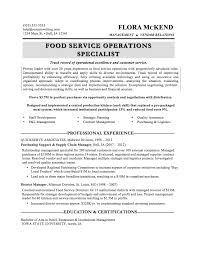 sample resumes resumewriters com food service