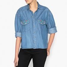 <b>Рубашка</b> с бисером и вышивкой синий деним The Kooples | <b>La</b> ...