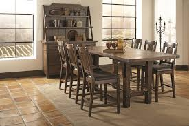 seven piece dining set: coaster padima seven piece rustic counter height dining set miskelly furniture pub table and stool set jackson mississippi