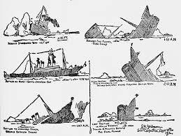 「1912, titanic hit iceberg sunken」の画像検索結果