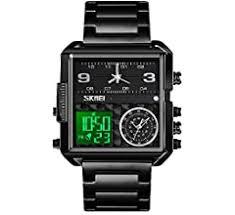 SKMEI Men's Digital Sports Watch, LED Square Large ... - Amazon.com