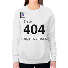 Заказать свитшот женский с полной запечаткой <b>Error 404</b> ...