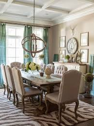 pictures of dining room decorating ideas: while you cant go wrong with neutrals create interest by adding color shapes and patterns to your dining room you can do this by creating an accent wall