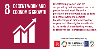 breastfeeding a key to sustainable development unicef and who 08 sdg decent work and economic growth