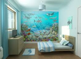 spice up the bedroom with wallpaper awesome kids bedroom design with under water world mural awesome design kids bedroom