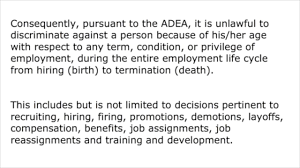 adea age discrimination employment act adea age discrimination employment act