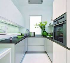 Contemporary Galley Kitchen Small Galley Kitchen With Attractive Glossy Cabinetssmall Galley