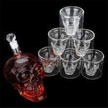 <b>skull glass</b> cup