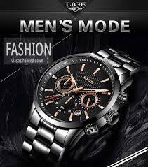 <b>2018 LIGE Mens</b> watches To Luxury Brand business Quartz Watch ...