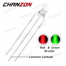 CHANZON <b>100pcs 3mm LED Diode</b> Green And Red Dual Color ...