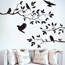 chinese decor black drop shipping black bird tree branch wall sticker wall quote decal rem