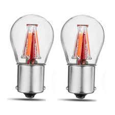 New <b>2PCS</b> Upgraded 1157 BAY15D 21/5W Red <b>4 Filament</b> COB ...
