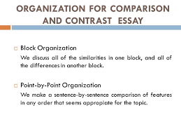 comparison and contrast essay presented by edi brata   ppt download organization for comparison and contrast essay  block organization we discuss all of the similarities in