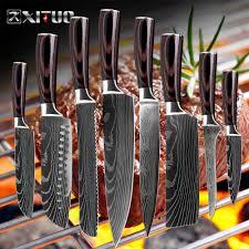 "<b>XITUO 8</b>""<b>inch japanese</b> kitchen knives Laser Damascus pattern chef ..."