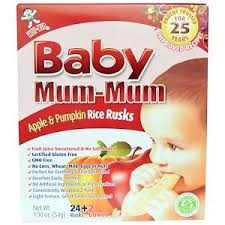 Hot Kid, <b>Baby Mum</b>-<b>Mum</b>, <b>Apple &</b> Pumpkin Rice Rusks, 24 Rusks ...