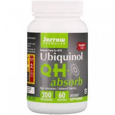 <b>Убихинол QH</b>-<b>Absorb</b>, Jarrow Formulas, <b>200 мг</b>, 60 <b>мягких</b> гелевых ...