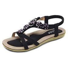 Zicac Women's Open Toe Sandals <b>Summer Bohemia</b> Rhinestone ...