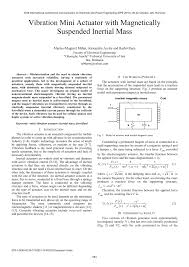 (PDF) <b>Vibration mini</b> actuator with magnetically suspended inertial ...