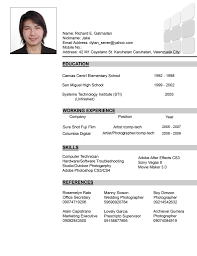 simple resume sample format samples of apa style professional cv business development manager
