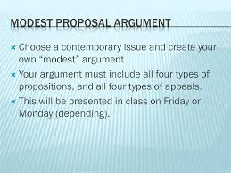 modest proposal argument assignment unit satire modest proposal argument assignment unit 3 satire proposals and modest proposal