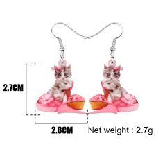 WEVENI Acrylic <b>Valentine's Day High Heels</b> Teacup Cat Kitten ...