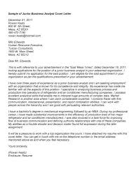 analyst cover letter free business  seangarrette cojunior business analyst cover letter sample