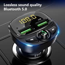 Konrisa FM Transmitter <b>Bluetooth</b> 5.0 Dual <b>USB Car Charger</b> ...