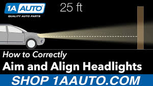 How to <b>Aim</b> and Align your <b>Headlights</b> Correctly - YouTube