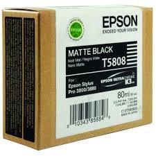 <b>Epson T5808 Matte Black</b> Inkjet Cartridge C13T580800 / T5808 - by ...