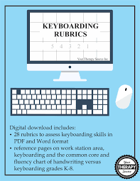 keyboarding rubrics your therapy source keyboarding rubrics from your therapy source inc