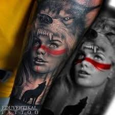 Image result for indian <b>girl with wolf headdress</b>   Wolf girl tattoos ...
