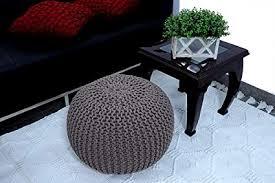 Magnetic Shadow Cotton Knitted Sitting <b>Stool Pouf</b> Ottoman <b>Pouffe</b> ...