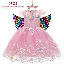 <b>Elegant</b> Girls Unicorn Dress Kids Dresses For Girls Birthday Party ...