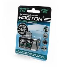 Цена на <b>Аккумулятор КРОНА Robiton 270</b> mAh RTU270MH-1 BL1 ...
