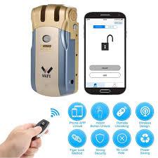 WAFU 018W Pro <b>WIFI Smart</b> Door Lock <b>Remote</b> Control Lock ...